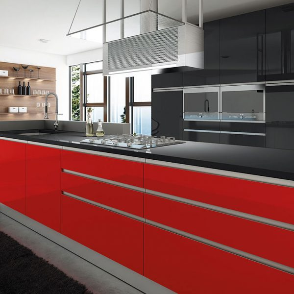 Ultragloss rojo y negro brillo T1